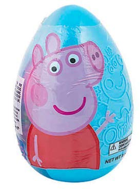 Peppa Pig Blue Jumbo 6 Easter Egg Refillable Plastic include Candy Bracelet, Candy Characters and 4 stickers