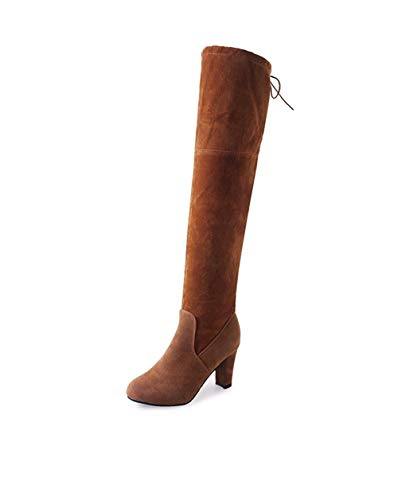 señora la Eu SED con Casuales Zapatos 35 de Sobre Fall Botas Botas Rodilla out fwSSEq4I
