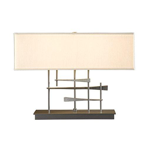 Hubbardton Forge 277670-1028 Cavaletti Table Lamp, Natural Anna Shade, Natural Iron - Hubbardton Table Lamp Forge Iron