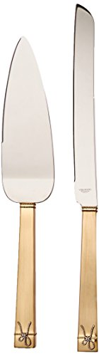 Vera Wang Cake Knife - Wedgwood Vera Wang Love Knots Cake Knife and Server Set, Gold
