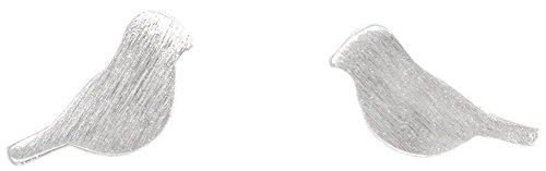 YAN & LEI Sterling Silver Little Bird Dainty Stud Earrings in Silver