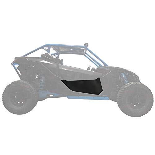 50 Caliber Racing Can-Am X3 2 Seater Models Left & Right Lower Door Skins - Fits 900 HO, Turbo R, X DS Turbo R, X RC Turbo, X MR Turbo, X RS Turbo - Aluminum Black Powdercoated [5351A1] (Panels Rs Door)