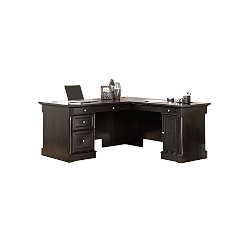 Sauder 417714 Palladia L-Desk, L: 68.74'' x W: 65.12'' x H: 29.61'', Wind Oak finish by Sauder