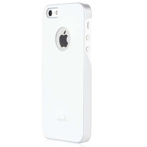 best loved 7e1a3 c4e93 Moshi iGlaze Ultra Slim Case For iPhone 5/5S (White)