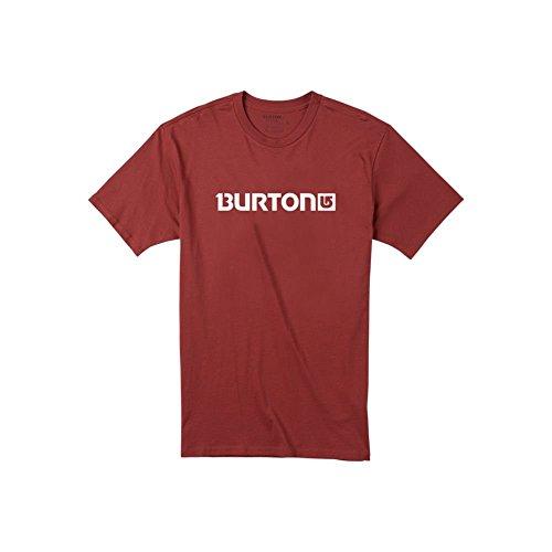 Brick Logo T-shirt (Burton Men's Logo Horizontal Short Sleeve Tee, Brick Red, Medium)