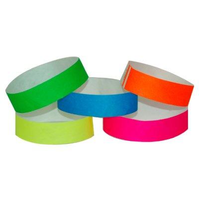 Variety Pack of 500 Tyvek Wristbands