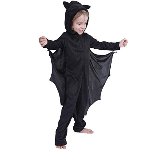 EraSpooky Kid's Bat Costume Halloween Vampire Suit for Girls Kids Costumes Boys Suit - Funny Cosplay Party (Bat Costumes For Kids)