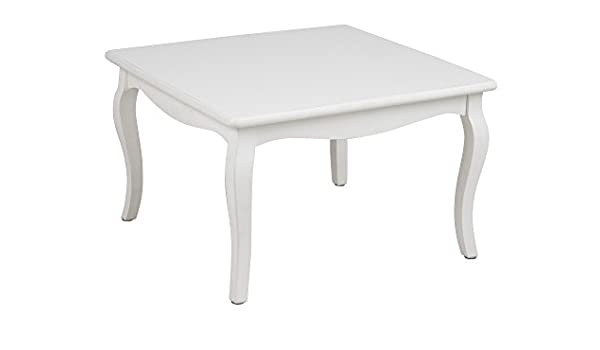 AC Design Furniture Angela Mesa de saln, Madera, Blanco, 70 x 70 x ...