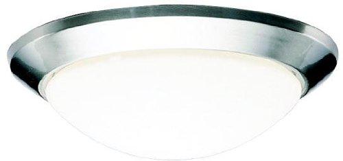 Kichler 8881NI Flush Mount Ceiling Lighting Round, Brushed Nickel 1-Light (14