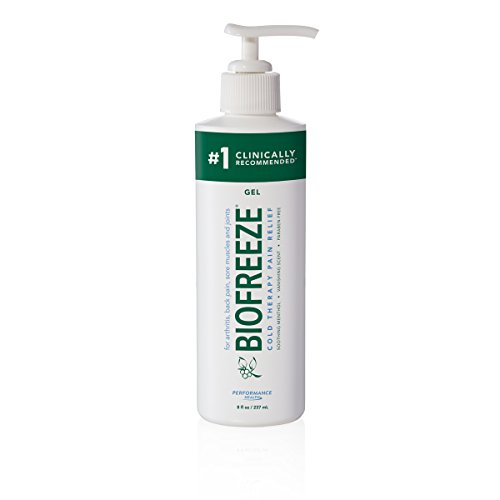 Biofreeze Pain Reliever Gel for Muscle, Joint, Arthritis, Back Pain, Cooling Topical Analgesic, NSAID Free Pain Relief Works Like Ice Pack, 8 oz Bottle with Pump, Original Green Formula, 4% ()
