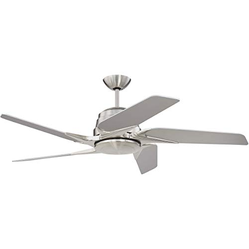 Indoor Ceiling Fans 1 Light Fixtures with Brushed Polished Nickel Finish Silicon Steel Material LED 15