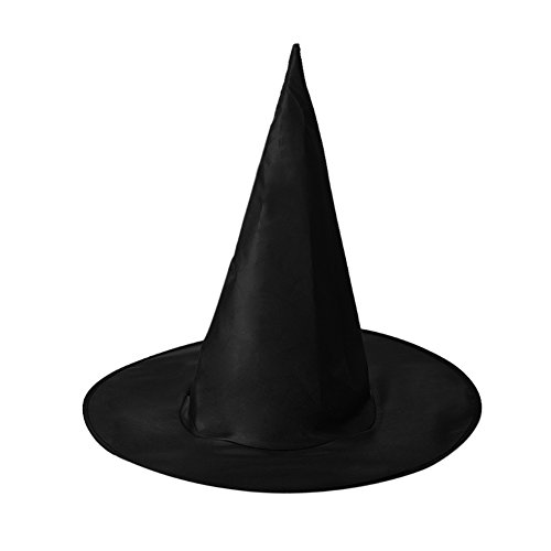 Bleu Costume (BleuMoo Black Adult Women Witch Hat Halloween Costume Accessory)