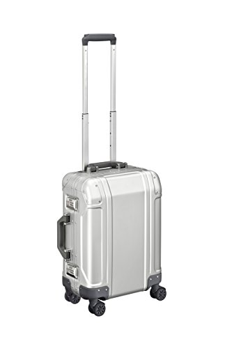 Zero Halliburton Geo Aluminum 3.0-Carry-on 4-Wheel Spinner, Silver ()