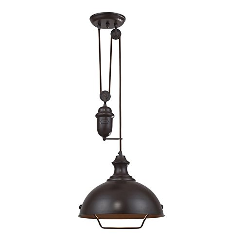 Large Circular Pendant Light - 5