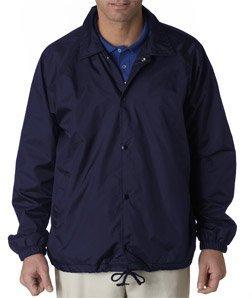 - UltraClub mens Nylon Coaches' Jacket(8944)-NAVY-S