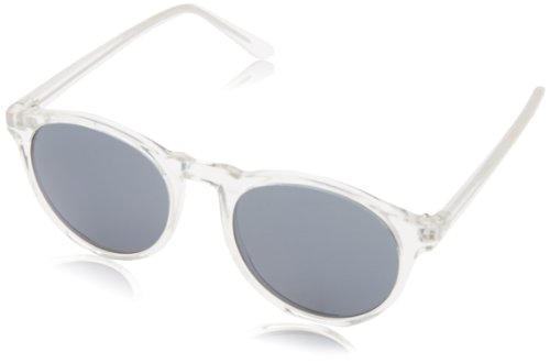 A.J. Morgan Unisex - Adult Grad School Round Sunglasses,Crystal,198 - Sunglass Clear