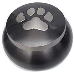 Best Friend Services Mia Paws Series Pet Urn (Slate, Small, Pewter)