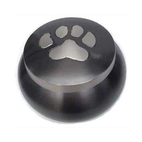 Best Friend Services Mia Paws Series Pet Urn (Slate, Large, Pewter) ()