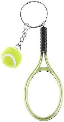 KBWL Mini Raqueta de Tenis Llavero Llavero Lindo Deporte Encanto ...