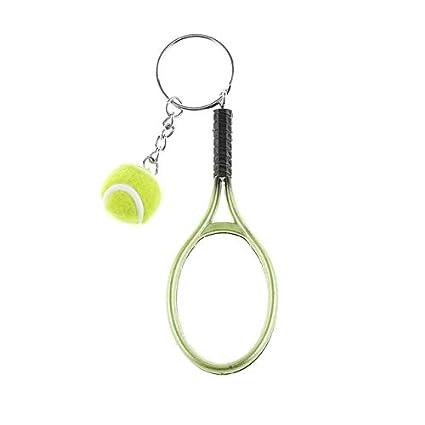 KBWL Mini Raqueta de Tenis Llavero Llavero Lindo Deporte ...