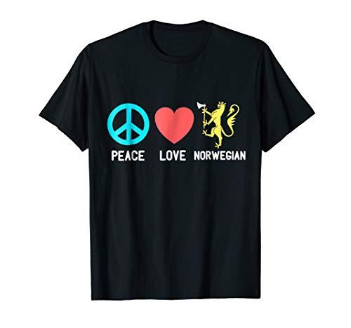 NORWAY T-shirt Norwegian Tee Flag Peace Love Norwegian Shirt