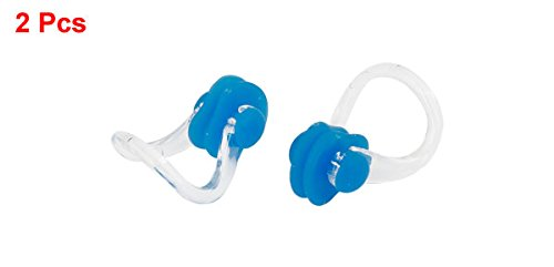 Dimart Rubber Swimming Nose Clip Nose-up Protector Blue Clear 2 Pcs