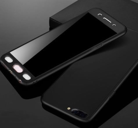 iPaky Xiaomi Mi A1 Cover Dual Hybrid 360 Degree Protection Hard Back Cover Black