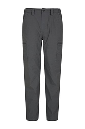 Mountain Warehouse Spring Trek Stretch Trouser - Stretchable Grey - Stretch Trek Fleece Mens