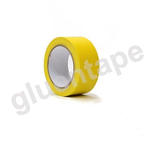 Vinyl Floor Marking, Safety Marking, Aisle Marking Tape, 2 inch (48mm) x 36 Yards (108'), 5 Mil, PVC, Yellow, (12 Rolls)