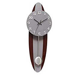 MIRUIKE Wall Clocks European Style Modern Creative Simple Large Pendulum Clock Retro Mute Clock for Living Room Bedroom