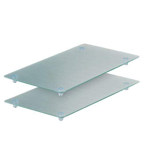 Zeller 26207 2-Piece Chopping Board/Worktop Saver Set for 4-Hob Cookers 52x30x3 cm Glass ()