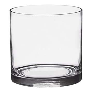 amazon com 6 pack clear round glass vase cylinder 5 inch 5 x 5