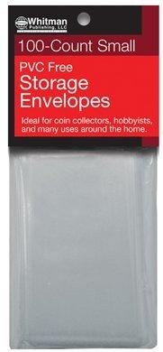 Whitman PVC Free Storage Envelopes – Small – 100 Count