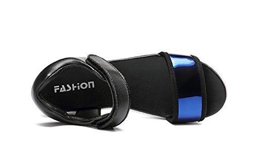 Summer Platform Womens Sandals Blue Sport Travel Comfort Shoes qqtROP