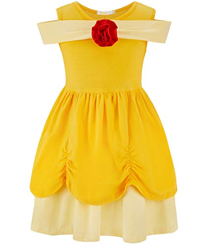 FUNNA Belle Costume for Toddler Little Girls Dress