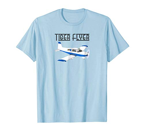 (Grumman Tiger Flyer Airplane Pilot and Enthusiasts T-Shirt)