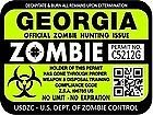 "ProSticker 1220 (TWO pack) 3""x 4"" Zombie Series ""Georgia"" Hunting License Permit Decal Sticker"