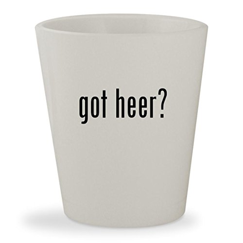 got heer? - White Ceramic 1.5oz Shot (Heering Cherry Liqueur)