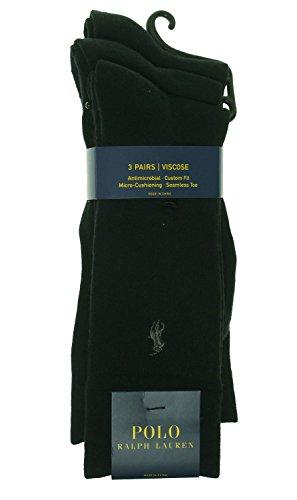 Polo Ralph Lauren Mens Dress Socks, 3 Pair, size 10-13 (10-13, Navy Ribbed)