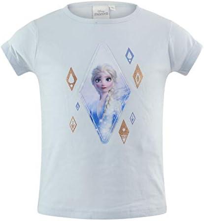 22-4159 Maglia Maglietta T-Shirt a Manica Lunga Elsa Disney Frozen II Bambina Cotone