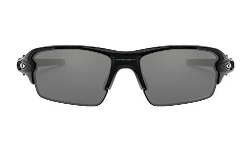 Oakley Flak 2.0 Sunglasses (Polished Black Frame, Black Iridium Polarized Lens), Lens Cleaning Kit and Ellipse O Carbonfiber Hard Case