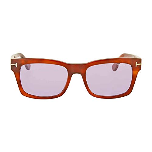 Tom Ford - FREDERIK FT 0494, Geometric, acetate, men, LIGHT HAVANA/VIOLET(53Y), 54/18/145