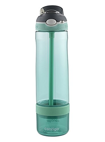 Contigo AUTOSPOUT Straw Ashland Water Bottle with Infuser, 26 oz., Grayed Jade