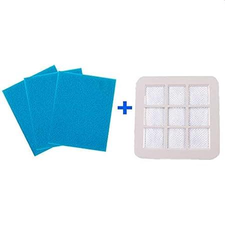 HEPA - Filtro con 3 algodones para aspiradoras Philips FC5225 ...
