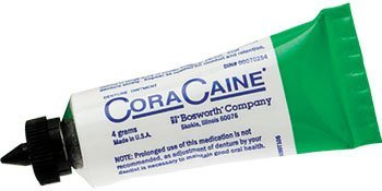 Cora-Caine Denture Analgesic Adhesive Ointment 20-4g Tubes by CoraCaine