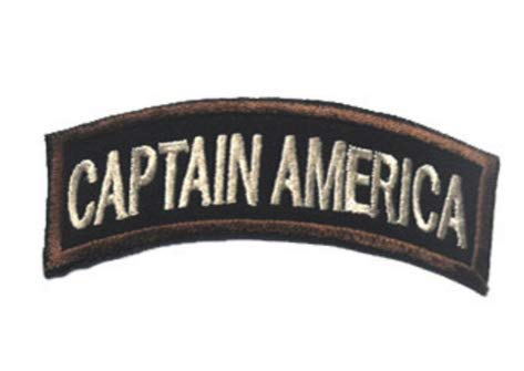 Captain America Military Patch Fabric Embroidered Badges Patch Tactical Stickers for Clothes with Hook & Loop (color5)