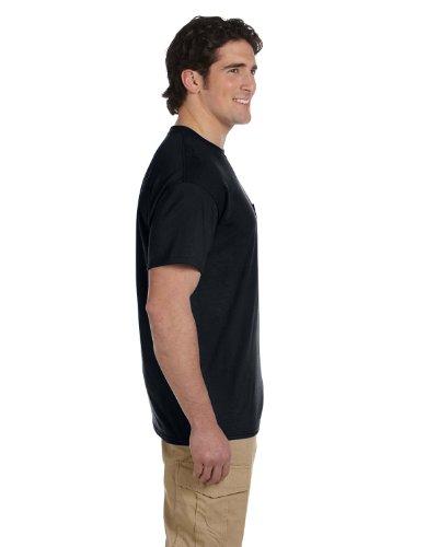 Gildan Mens DryBlend 50 Cotton/50 Poly Pocket T-Shirt, XL, (50% Polyester Pocket T-shirt)