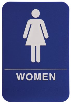 Women's Restroom Sign - Blue