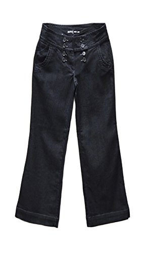 Apt 9 Women's Wide Waist Button Wide-Leg Jeans Rinse Wash 240499RM (Rinse Wash Wide Leg)