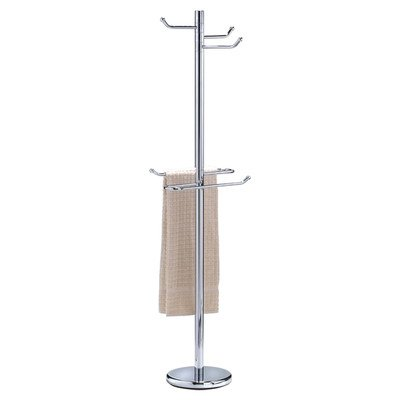 Free Standing Robe and Towel Stand Finish: Chrome by Wildon Home (Image #1)
